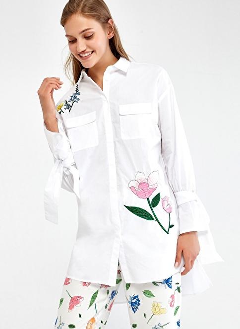Ipekyol Tunik Gömlek Beyaz